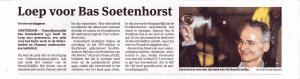 loep voor Bas Soetenhorst, het Parool, boek Noord/Zuidlijn